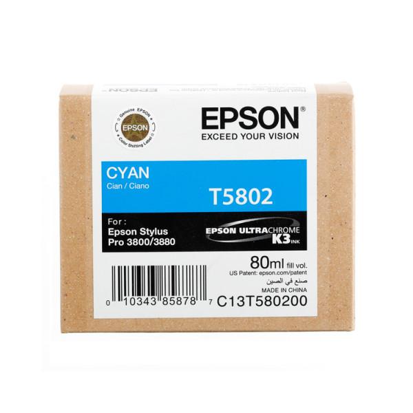 Epson Cyan T5802 - Tintenpatrone mit 80ml