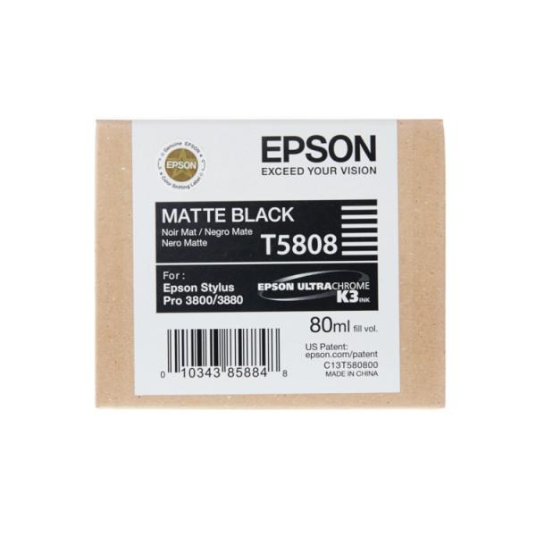 Epson matte black T5808 f. Stylus Pro 3800 08/2017