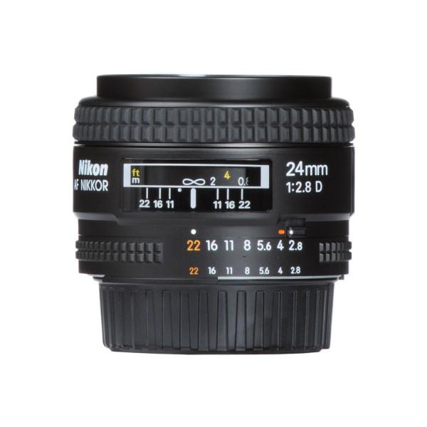 Nikon AF 24mm f2.8D seitlich