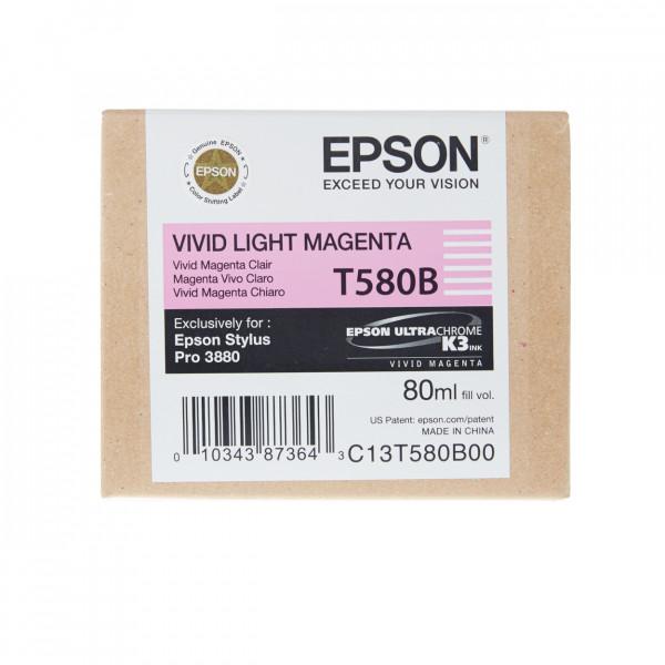 Epson Tinte T580B Vivid Light Magenta Tintenpatrone mit 80ml Inhalt