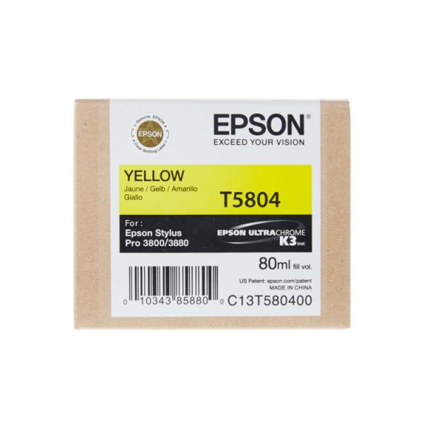 Epson Gelb T5804 - Tintenpatrone mit 80ml